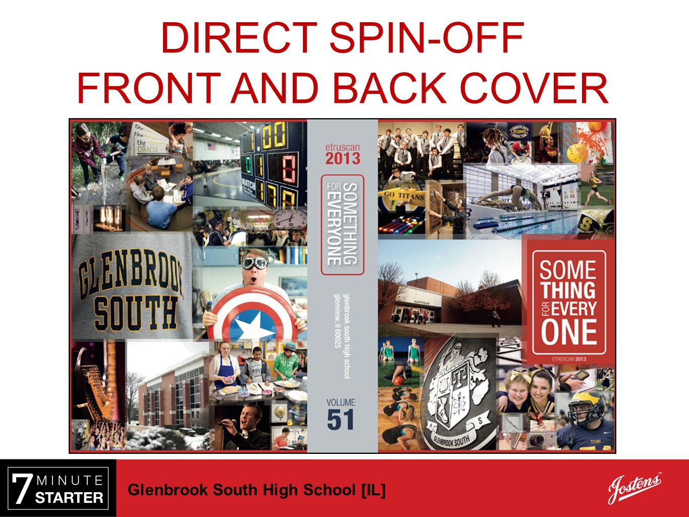 DIRECT SPIN-OFF FRONT AND BACK COVER Glenbrook South High School [IL]